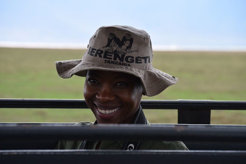 Rahel Mwitula Williams on Safari. photo by Shelby Morgan