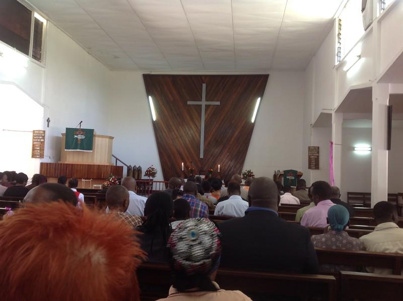 Worship service at Arusha Town Lutheran Church. Photo by Eva J Yeo