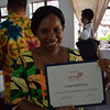 Seed grant presented to Mwangaza program coordinator, Salame Lally. Photo by Shelby Morgan