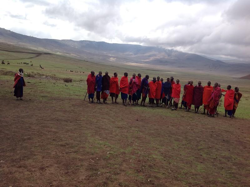 The village of the Maasai community at Ngorongoro Conservation Area. Photo by Eva J Yeo