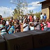 School children singing African National Anthem. photo by Shelby Morgan.