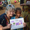 Nancy and student at Elimaa school. Photo by Shelby Morgan