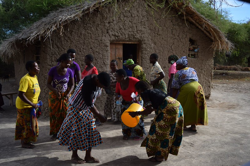 Tanzanian women dancing. Photo by Shelby Morgan