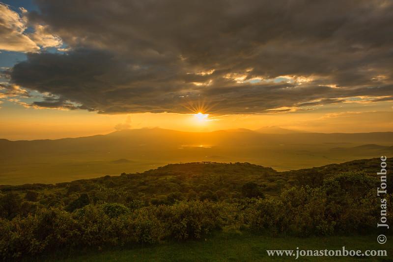 Sunset Over Ngorongoro Crater