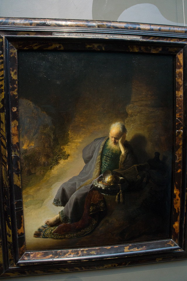 One of my favorite paintings by Rembrandt. Love the lighting.