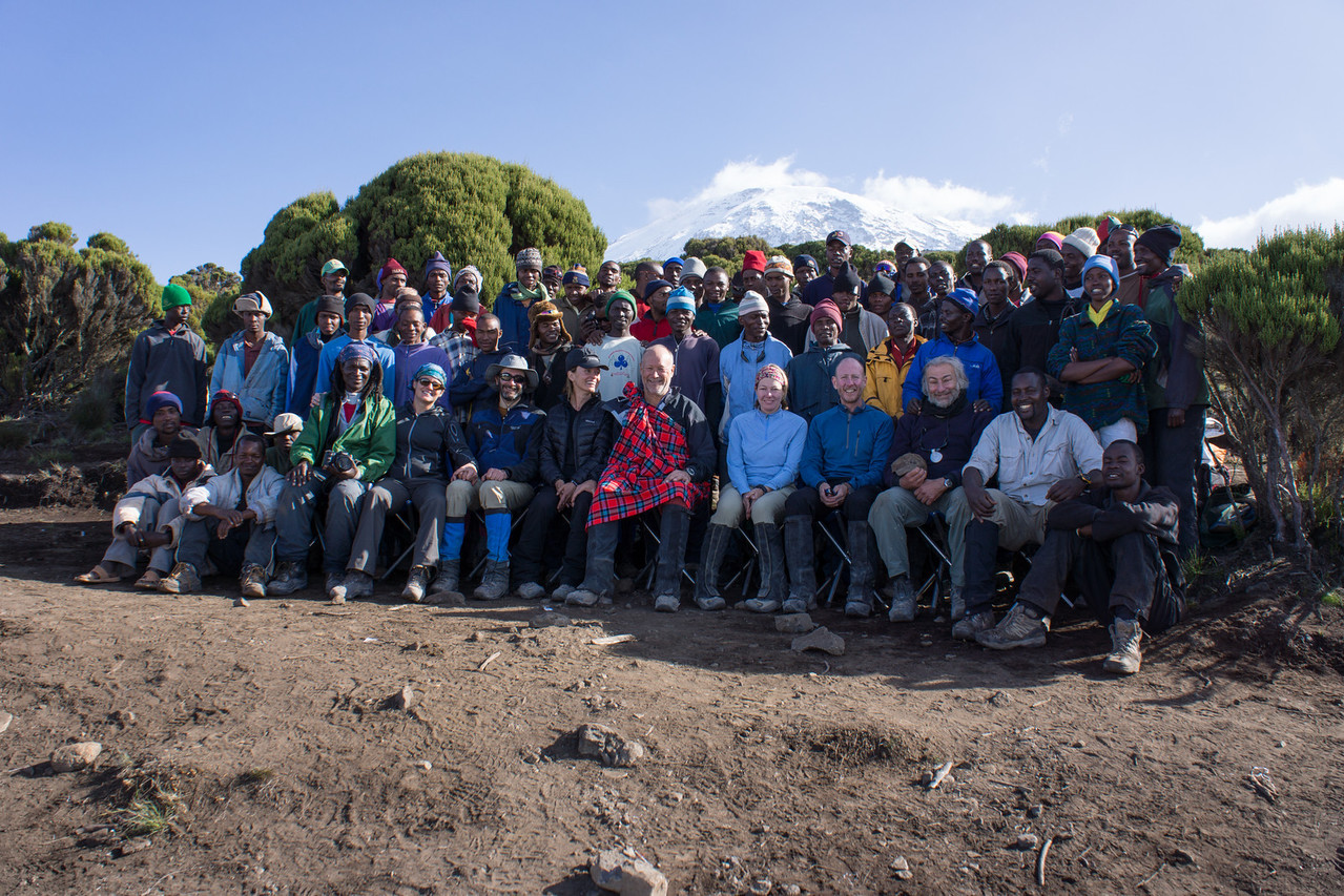 Group photo at Millenium  Camp.