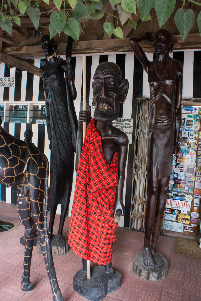 Maasai carvings.