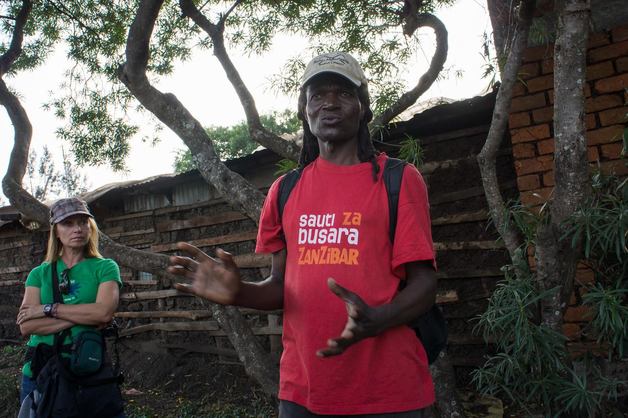 Kapanya explains the buildings.