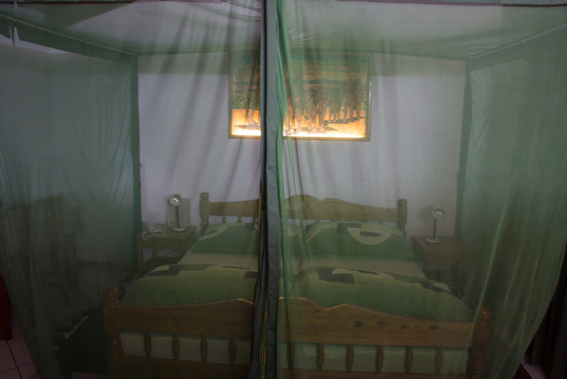 Our room in the Dik Dik lodge, protected from mosquitos.