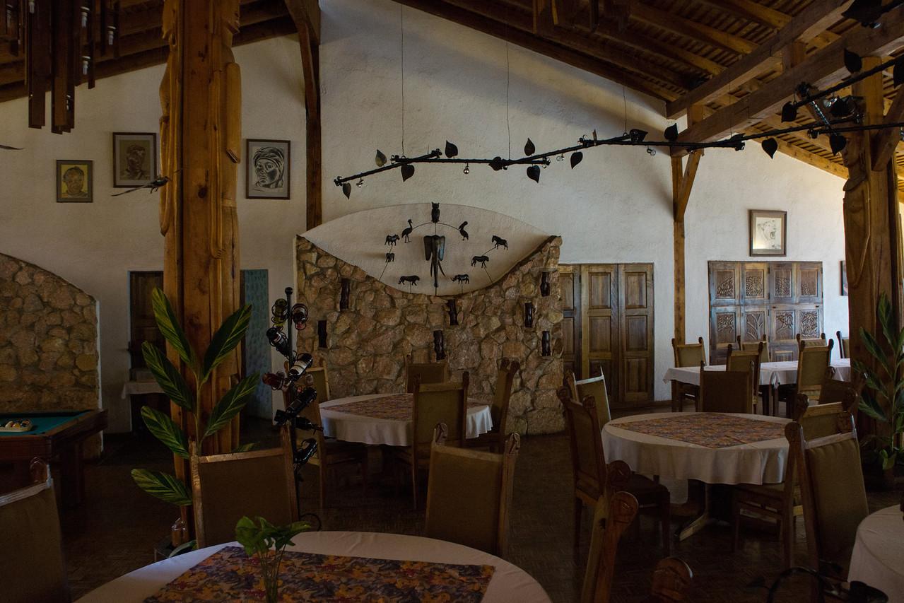 Inside the Dik Dik Lodge.