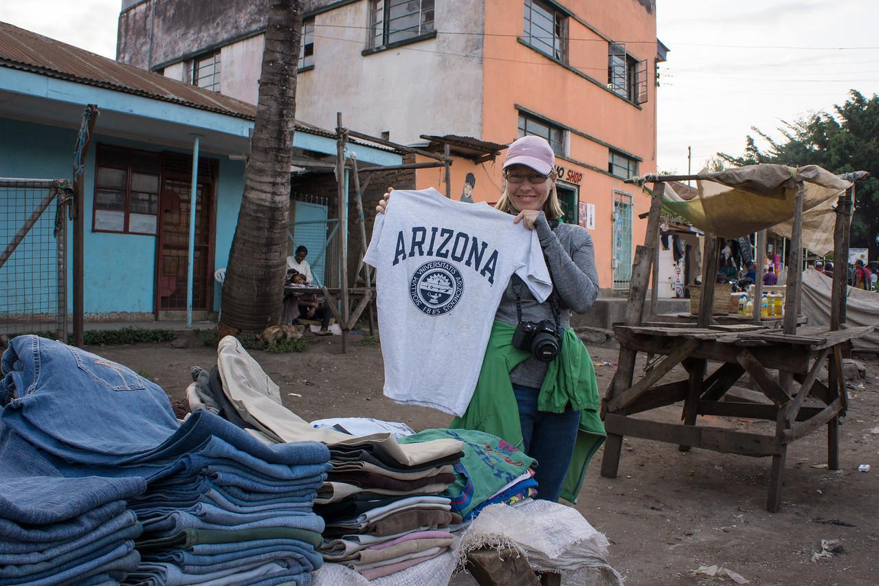 Trish found an Arizona shirt.