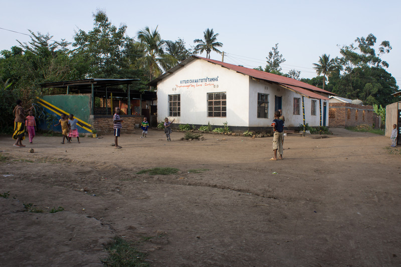 Children playing in the shcool yard.
