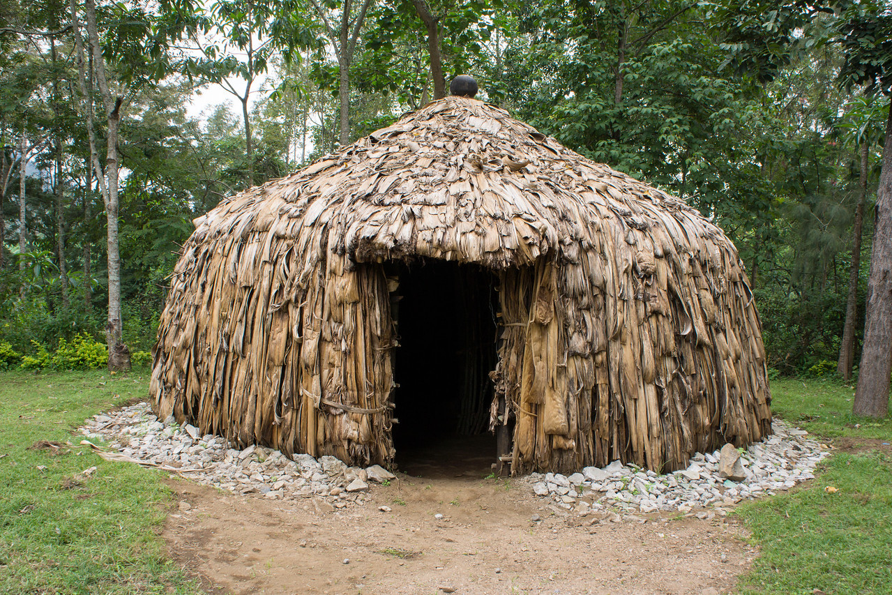 A traditional Meru hut.