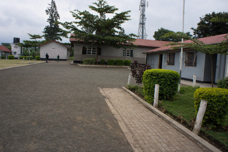 School courtyard.