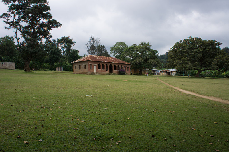 The site of the sacred trees of the Meru people. The building was built buy the British and was used for joint rule.