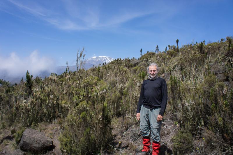 Paul in front of Kibo.