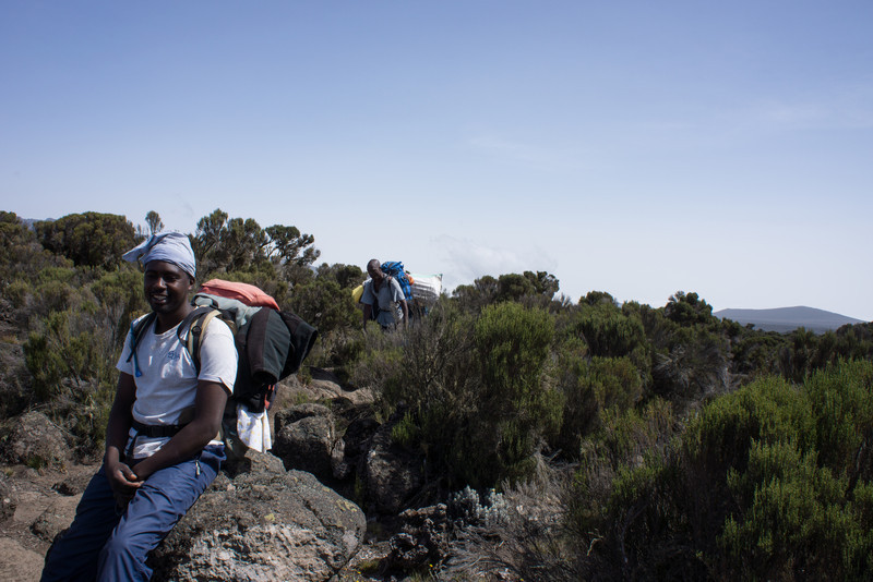 Nuru, our assistant guide. He is the senior guy below Kapanya.