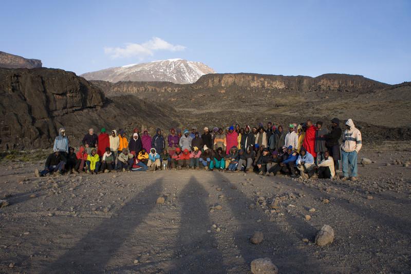Group photo at Moir Camp.