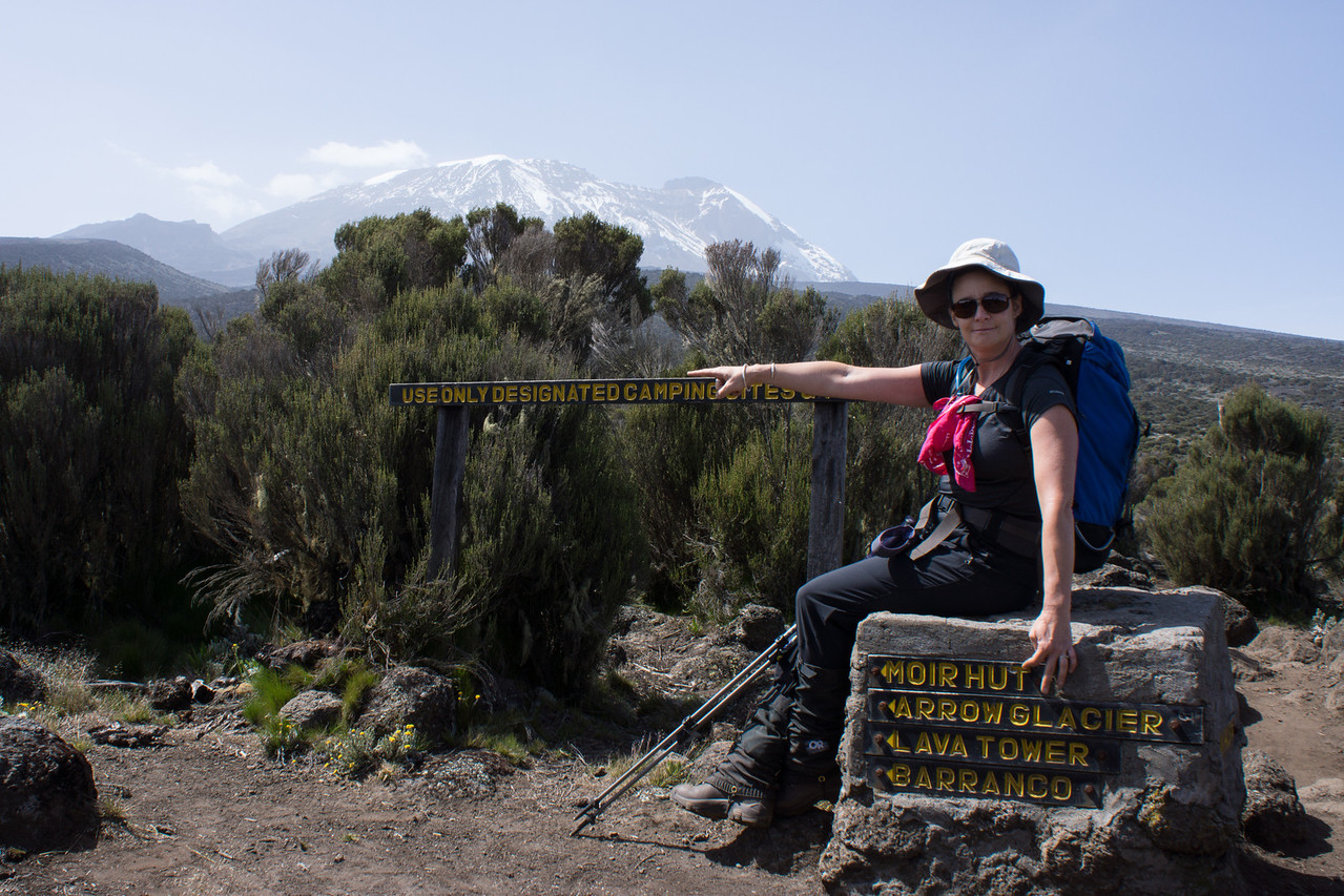 This sign points to our camp, as does Lisa, but we didn't go that way.