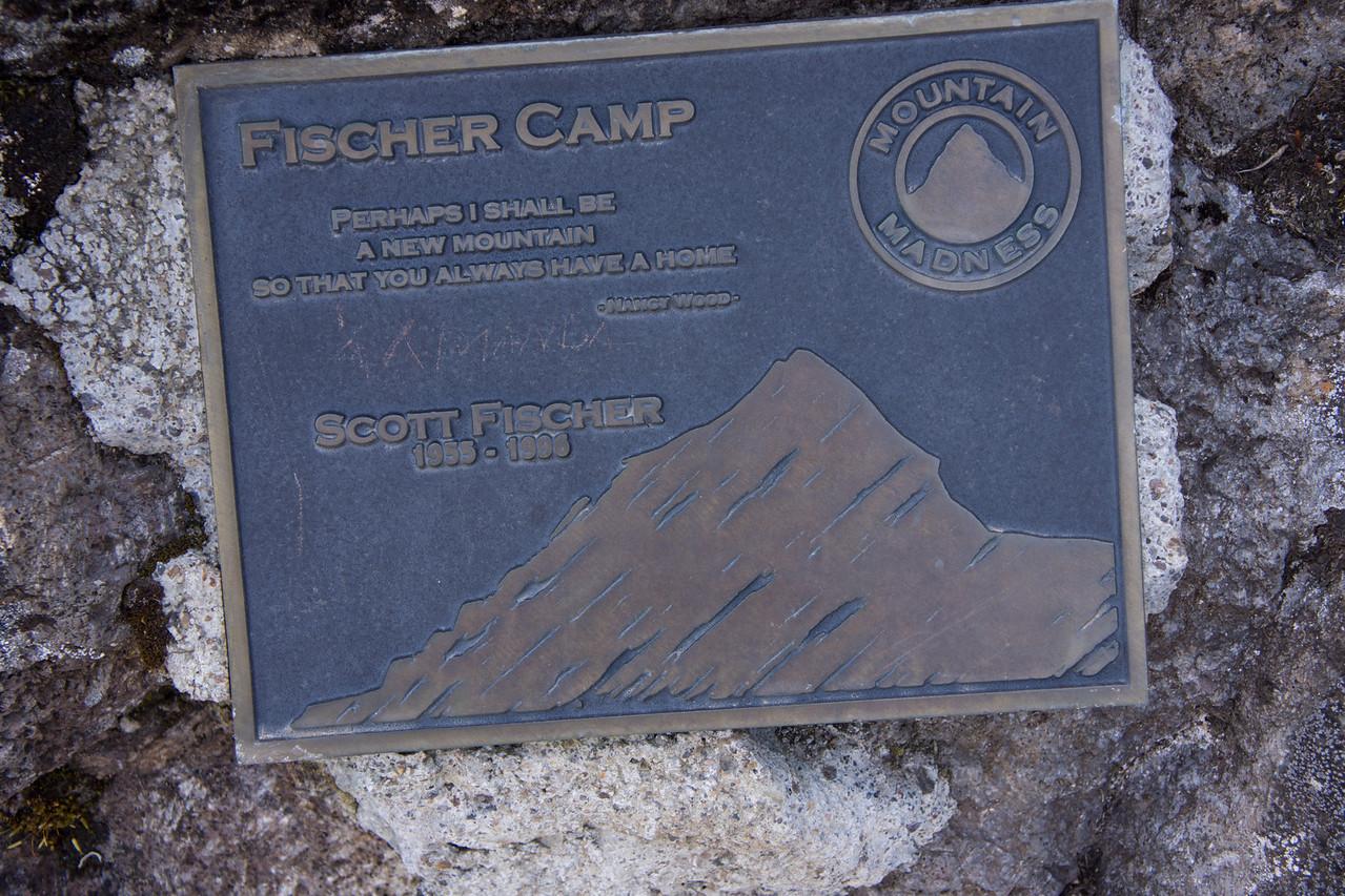 Plaque commemorating Fischer Camp.