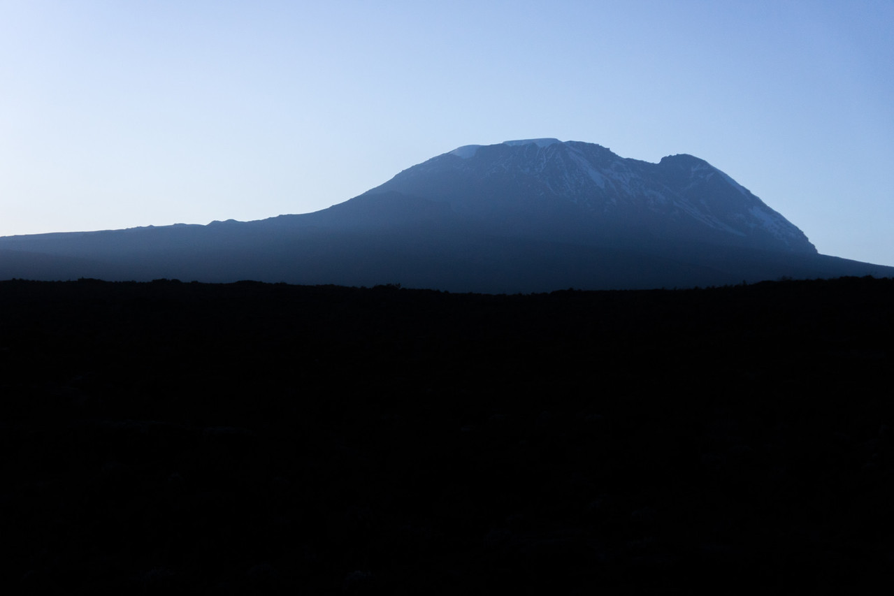 Sunrise over Kibo.