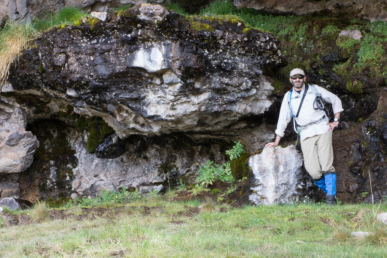 Me by a spring in the lava flow.