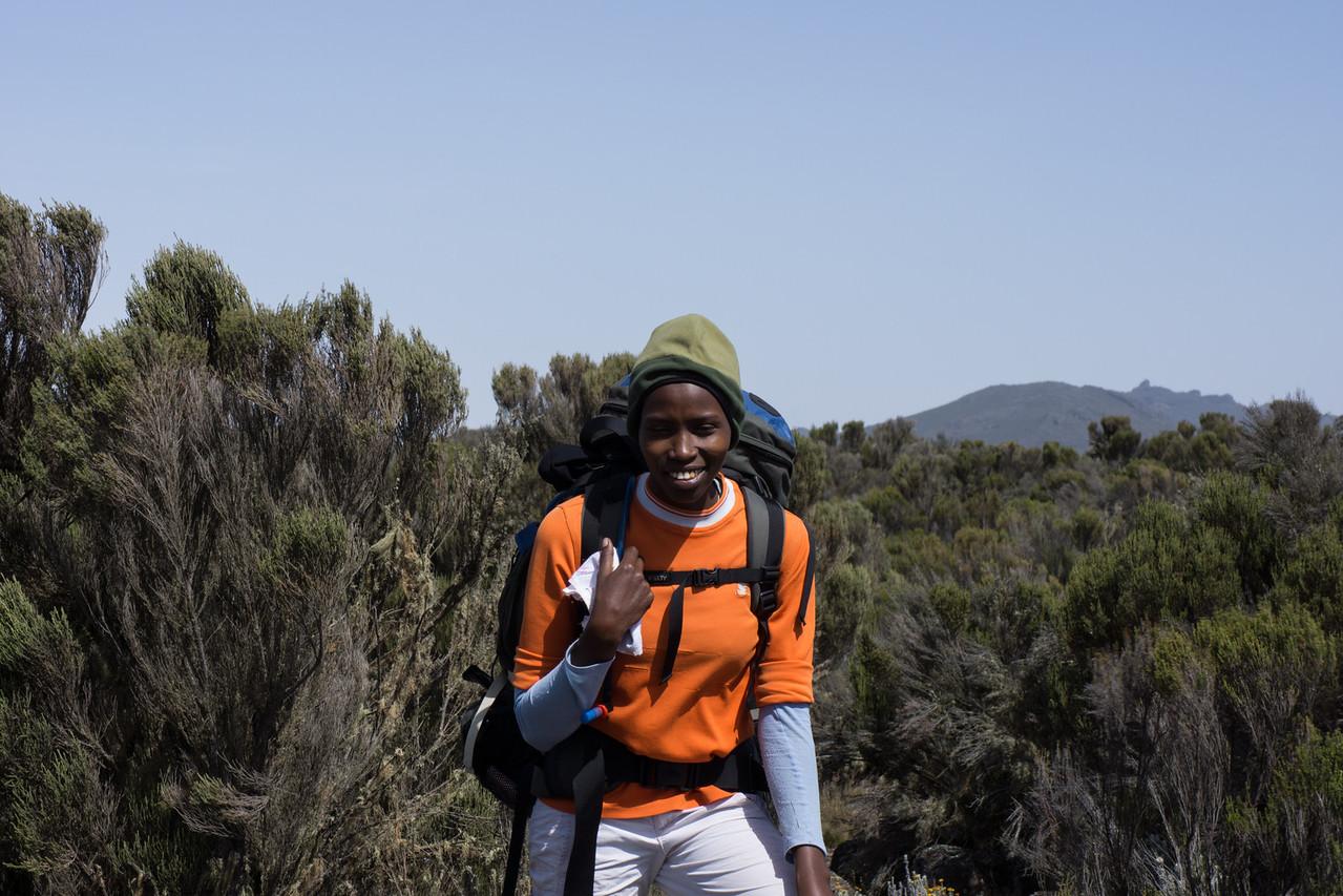 Nema, our sole female guide.