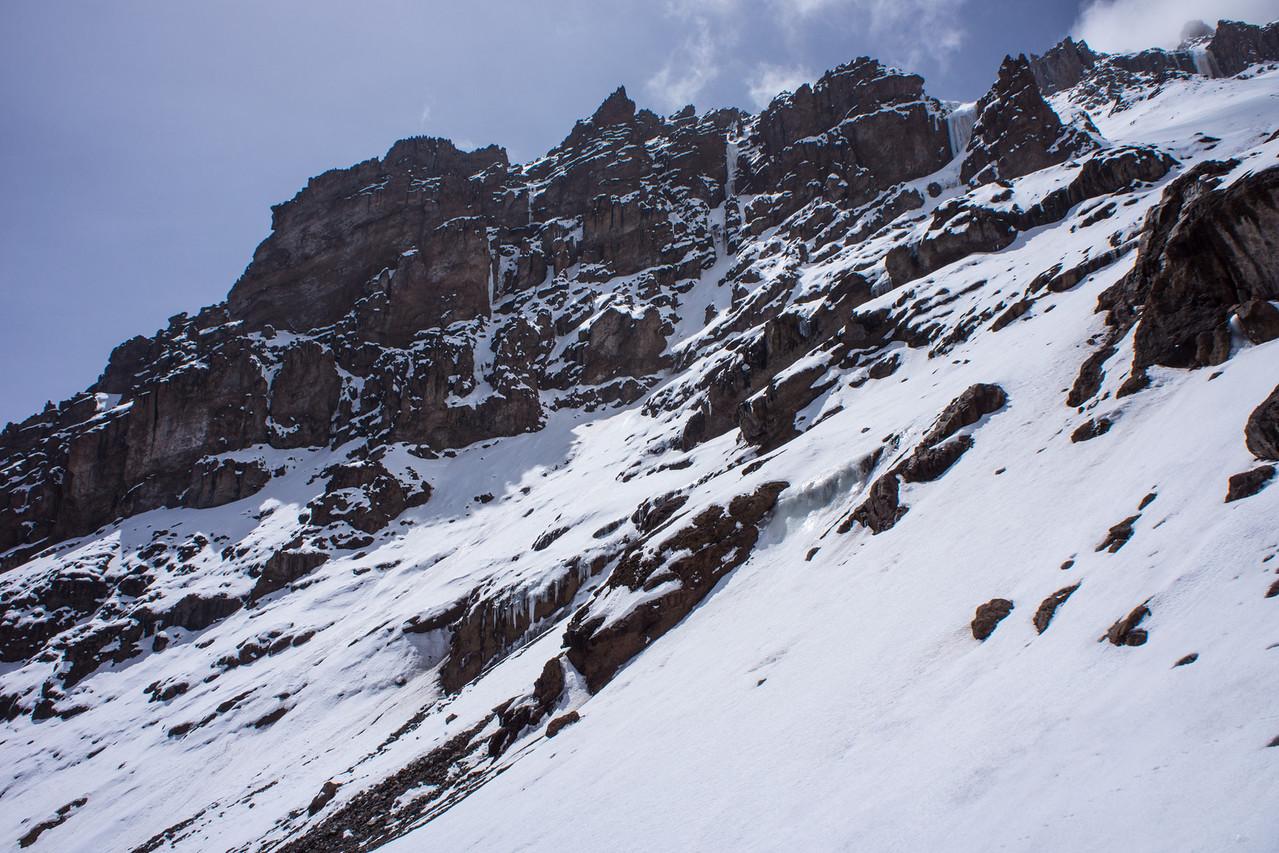 Snow on the Western Breach.