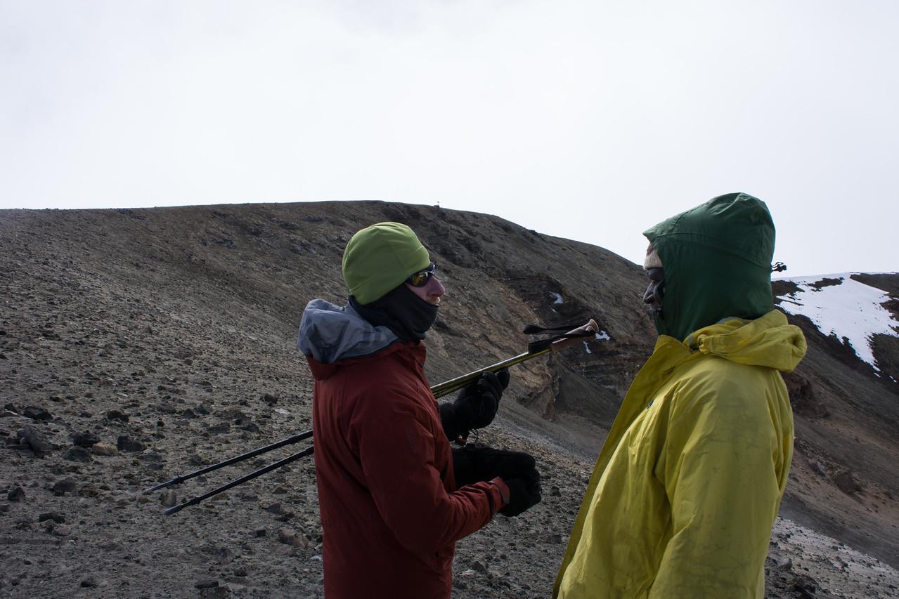 Kapanya and John at the ash pit.