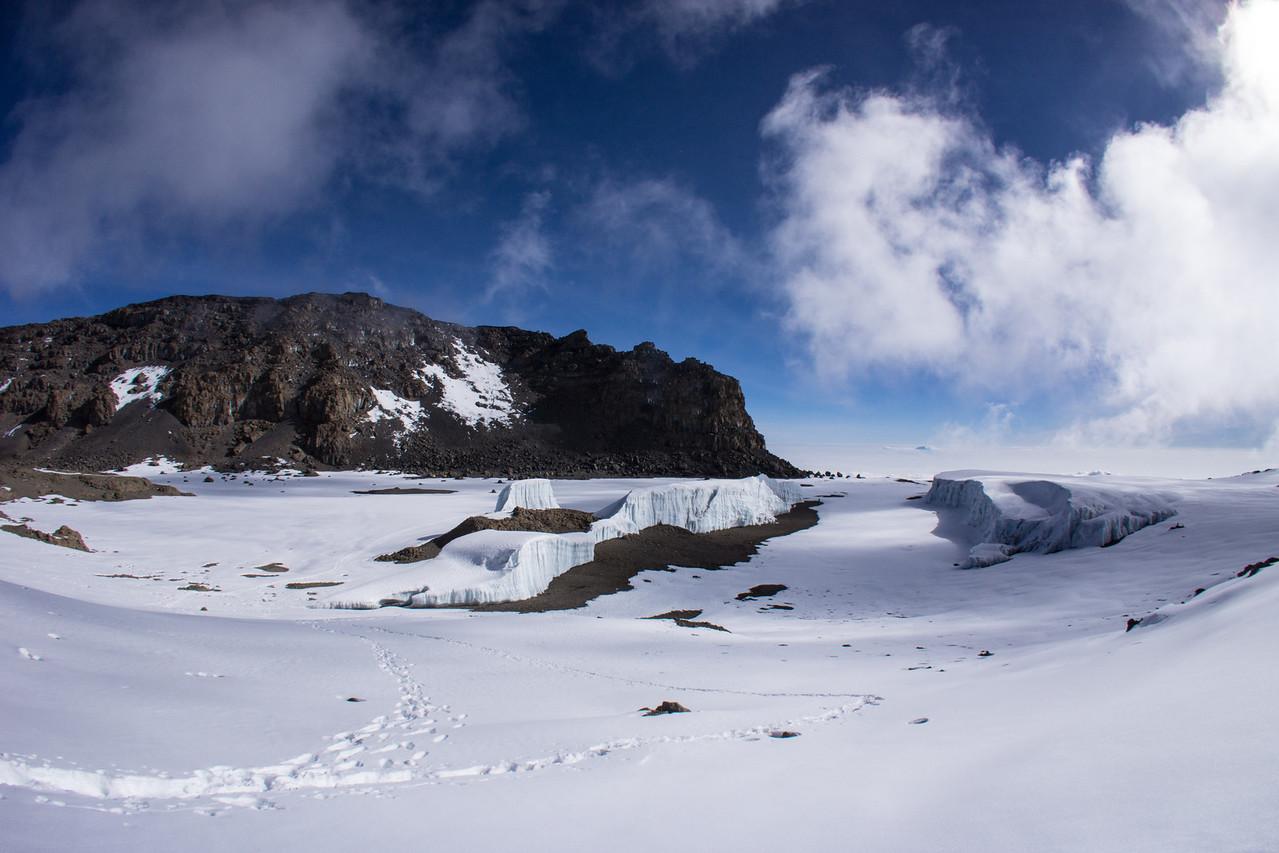 Furtwangler Glacier from the rim of the ash pit.
