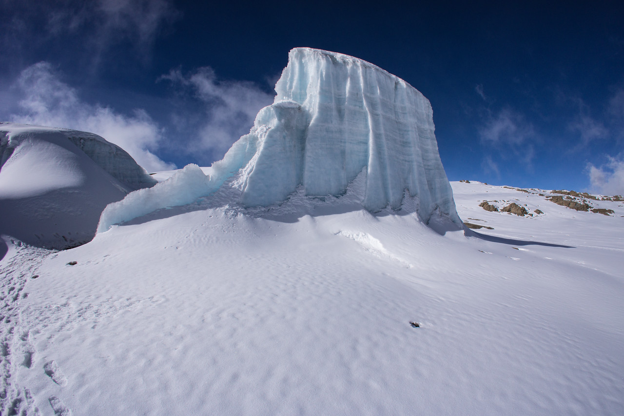 A separated piece of the glacier.
