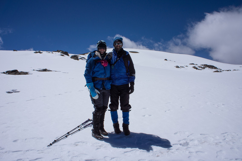 Lisa and me in the crater.