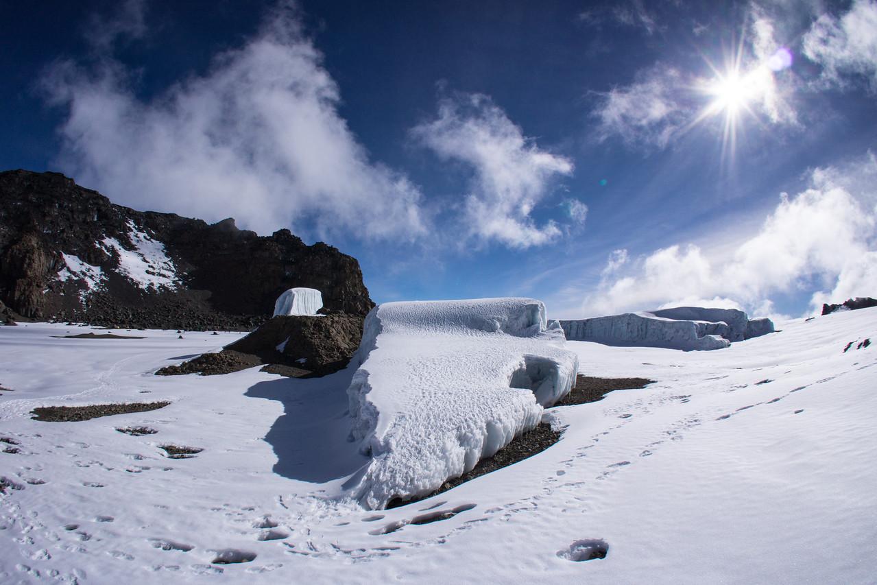 Furtwangler Glacier from the slope of the ash pit.