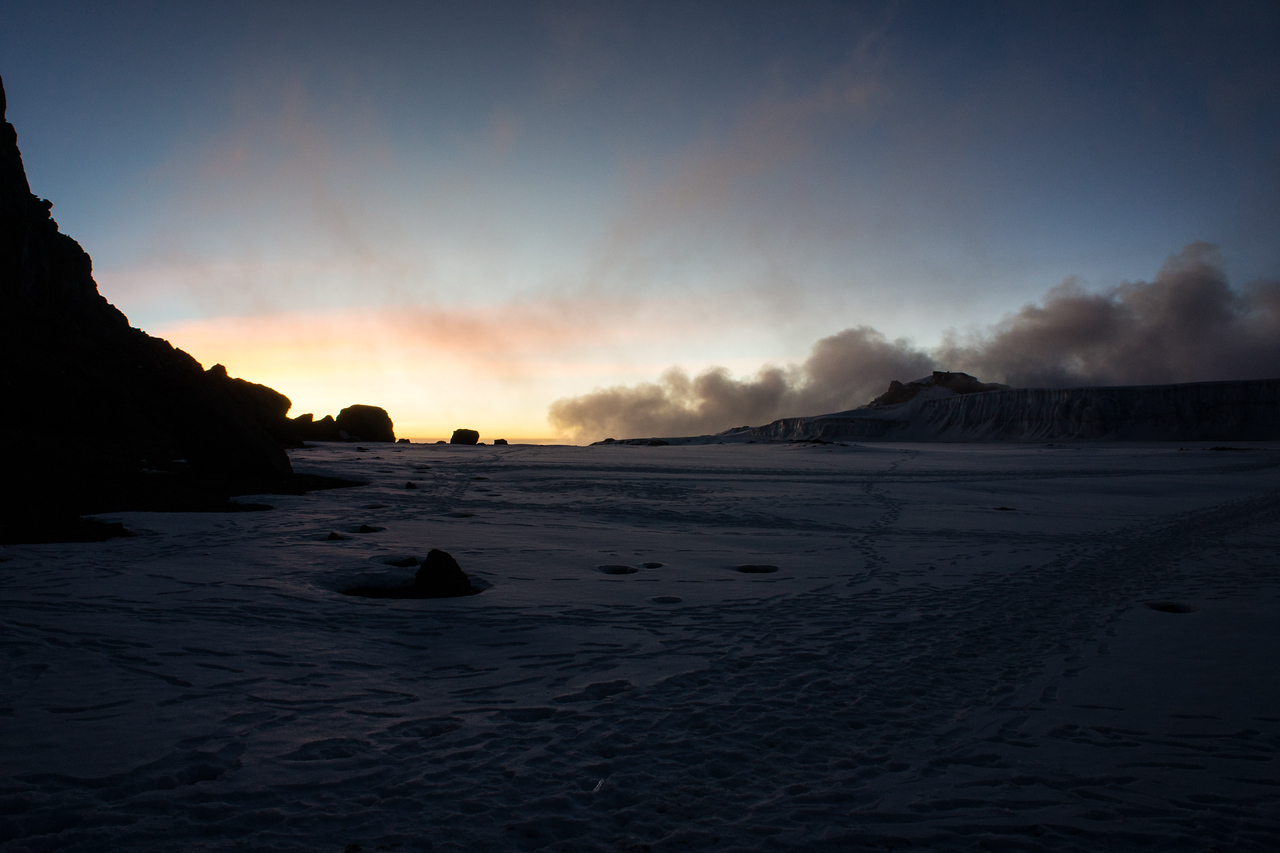 Sunset in the crater.