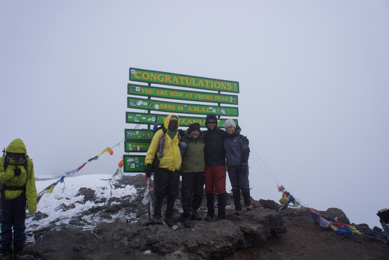 Kapanya, Paul, Larry, and Cindy on the summit.
