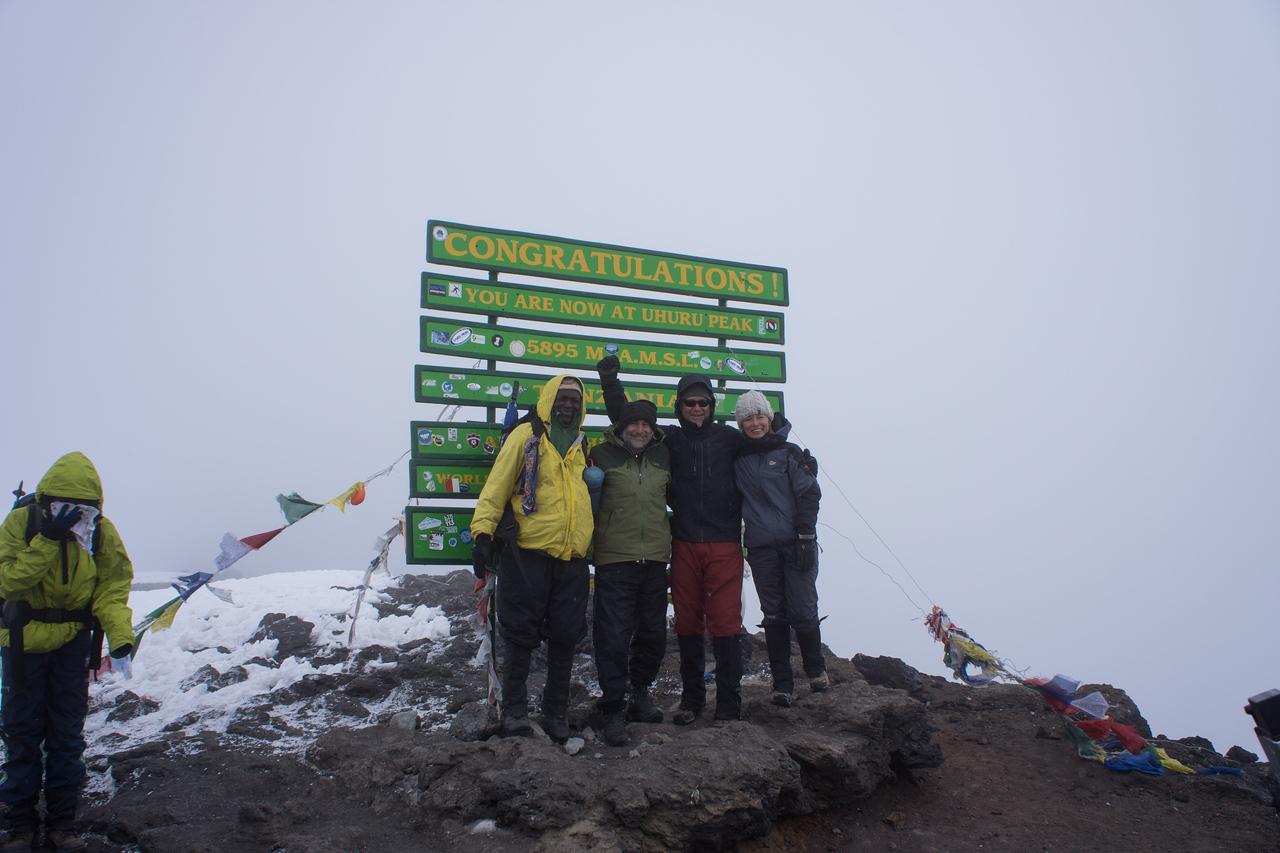 Kapanya, Paul, Larry, and Cindy on the summit.