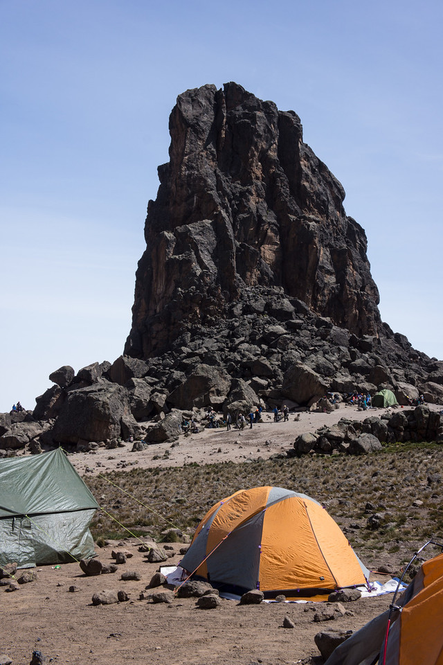 Lava Tower over camp.