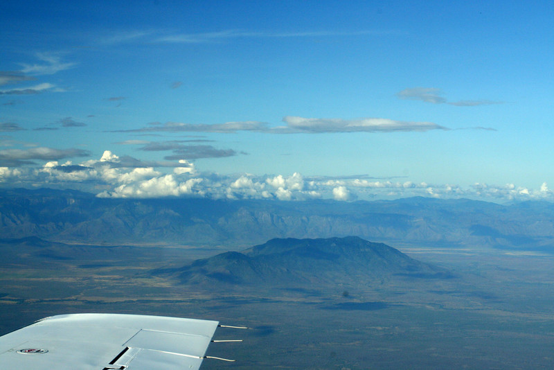 Flight over Tanzania