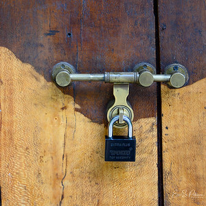 You locked your room with a padlock from the outside.