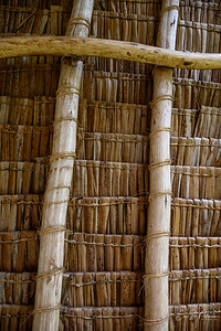 The roof of our room was made from these reeds folded over a stick and tied together.