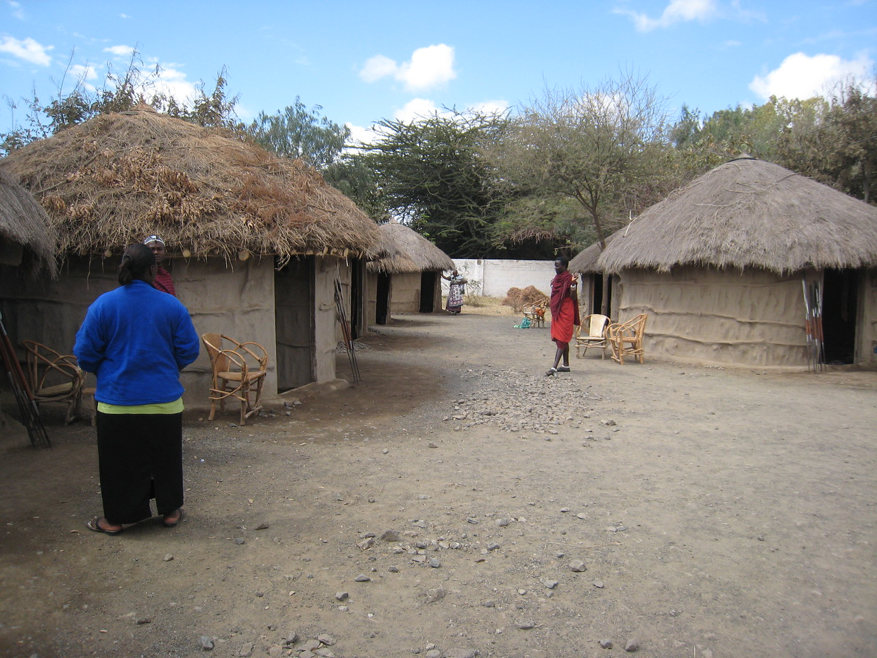 Maasai Village at Meserani in Tanzania.