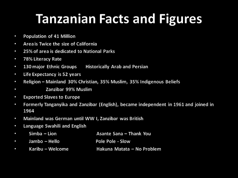 SS0002 SS0002 Tanzanian Facts and Figures copy