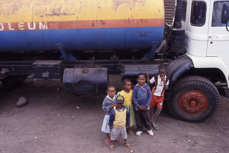 Children looking at us with great curiosity in Tanzania.