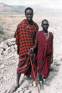Maasai who live in  Ngorongoro Crater