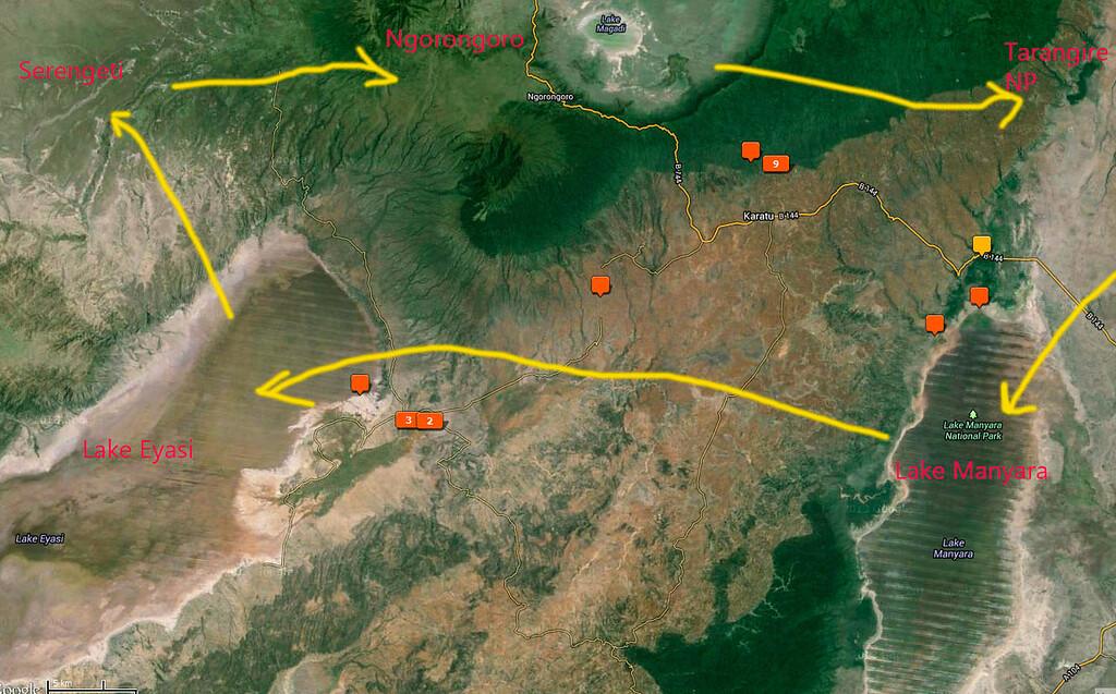 Eyasi_Manyara Map