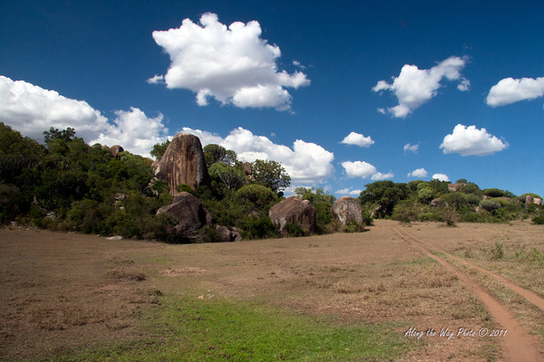 Scenery 45<br /> Kopje on the Serengeti. A Kopje is an area of rock outcropping on the plains.
