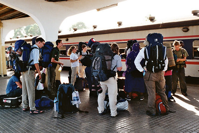 Us volunteers waiting for the Tazara train