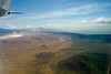 Here is the southern half of Ngorongoro Crater. The road thru the Lerai Forest can be seen curving along the right side of this shot where we saw a leopard, elephant and bushbuck.