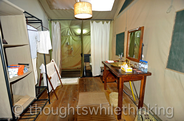en suite facilities for our tent at Lemala Ngorongoro Camp