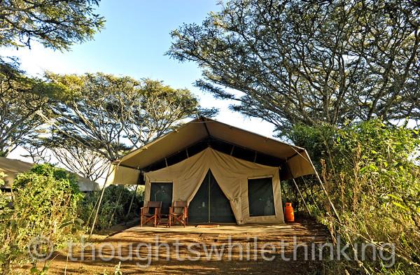 our tent, #2, at Lemala Ngorongoro Camp
